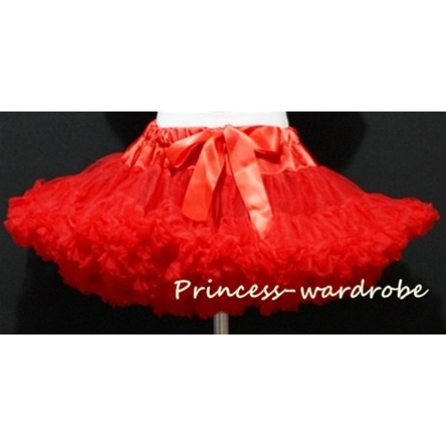 Red Full Pettiskirt P01