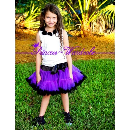 Black Purple Pettiskirt P39