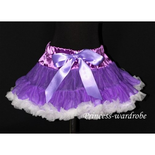 Dark Purple White Pettiskirt P40