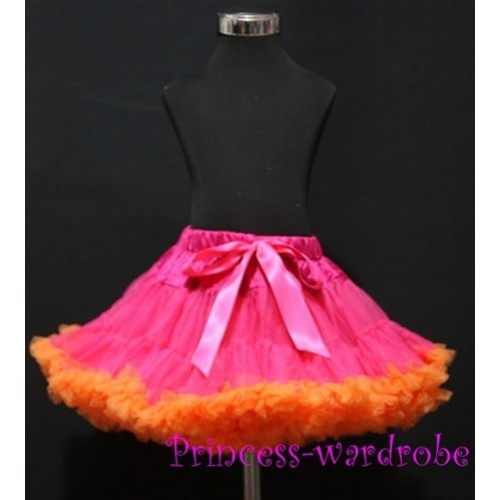 Hot Pink Orange Pettiskirt P75