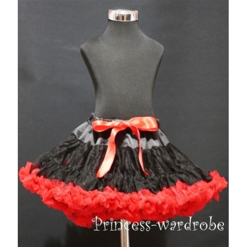Black Red Pettiskirt P77