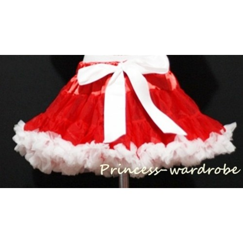 Red White Full Pettiskirt P20