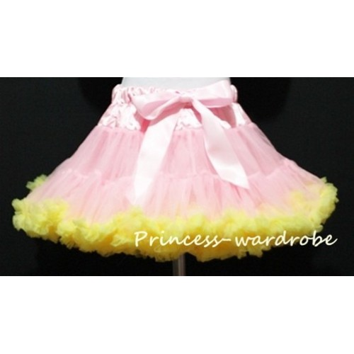 Light Pink Yellow Full Pettiskirt P21