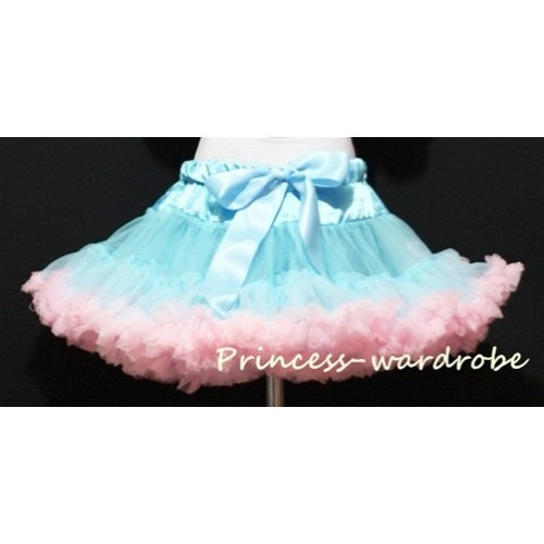 Light Blue Light Pink Full Pettiskirt P22