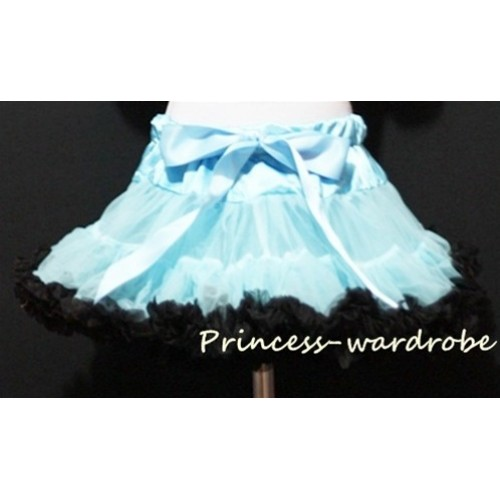 Light Blue Black Full Pettiskirt P23