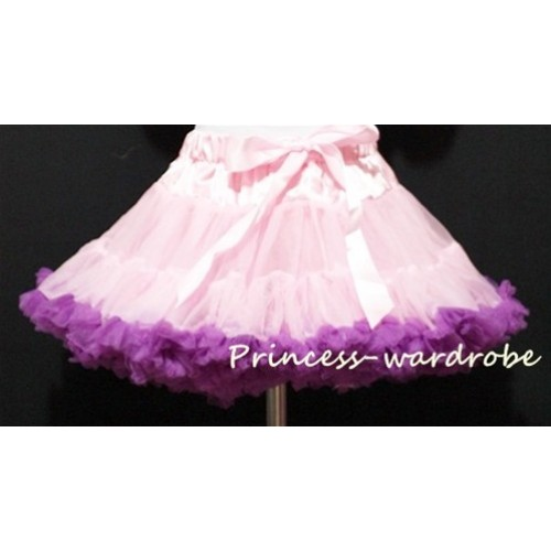 Light Pink Purple Full Pettiskirt P24