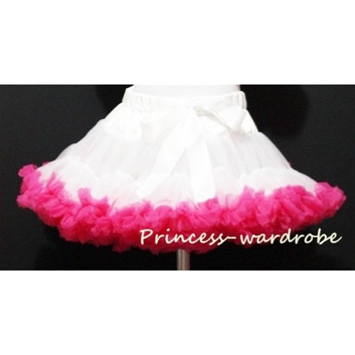 Pure White Hot Pink Pettiskirt P26