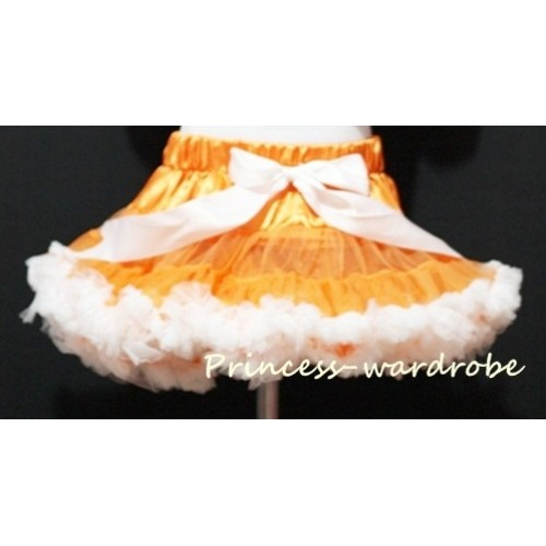 Orange White Pettiskirt P34