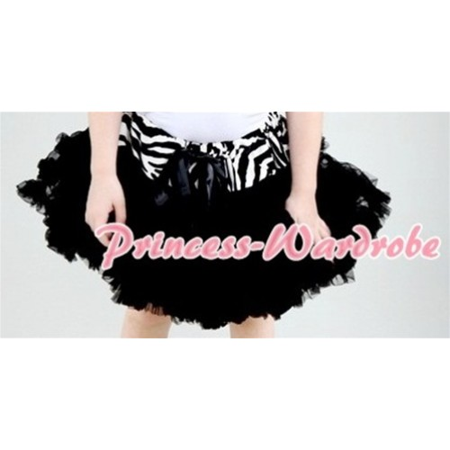 Zebra Waist Black Full Pettiskirt P129