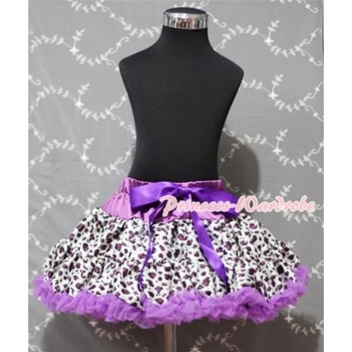 Dark Purple Leopard Full Pettiskirt P131