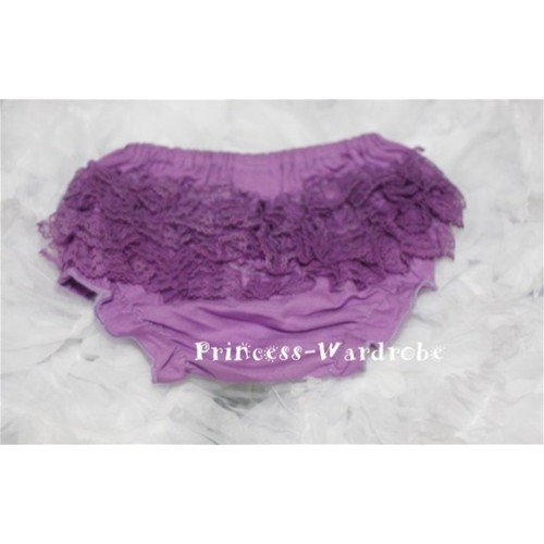 Dark Purple Lace Panties Bloomers B32