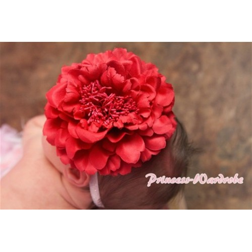 Red Peony Hair Pin H218