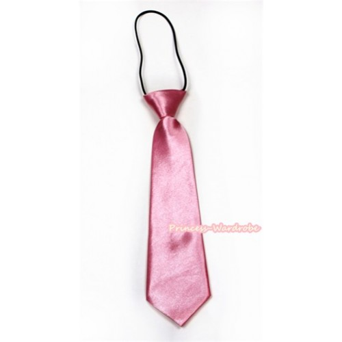 Light Pink Silk Elastic Necktie BT14