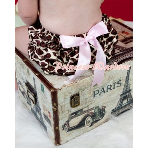 Brown Giraffe Layer Panties Bloomers with Cute Big Bow BC110