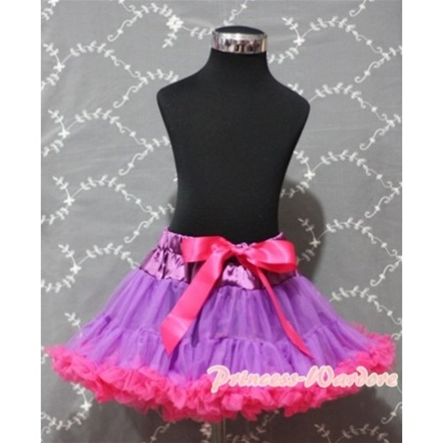 Dark Purple Hot Pink Pettiskirt P93