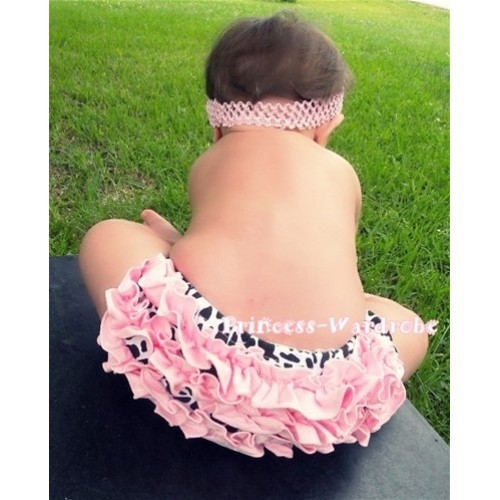 Light Pink Milk Cow Ruffles Panties Bloomers B36