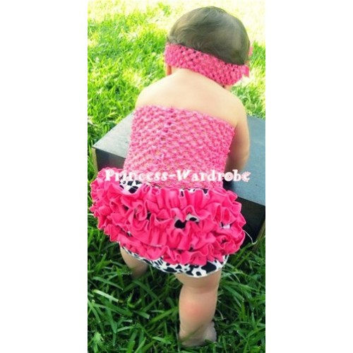 Hot Pink Crochet Tube Top, Hot Pink Milk Cow Bloomer CT28