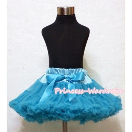 Peacock Blue Full Pettiskirt P136