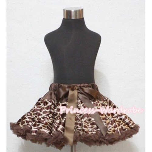Brown Giraffe Full Pettiskirt P133