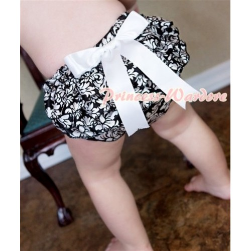 Damask Layer Panties Bloomers with Cute Big Bow BC115