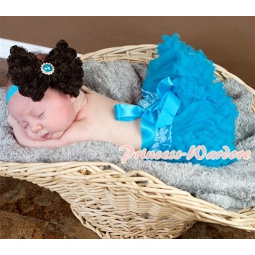 Peacock Blue New Born Pettiskirt N086