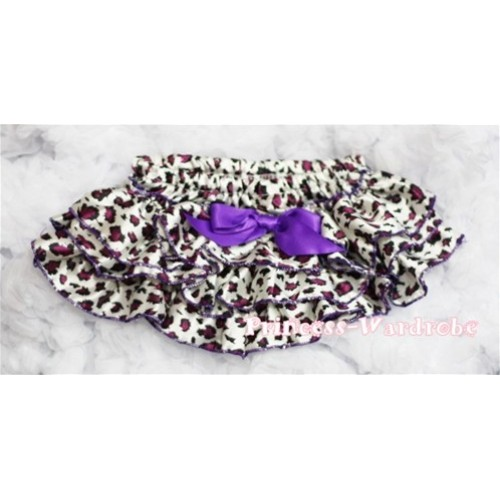 Dark Purple Leopard Print Panties Bloomers B40
