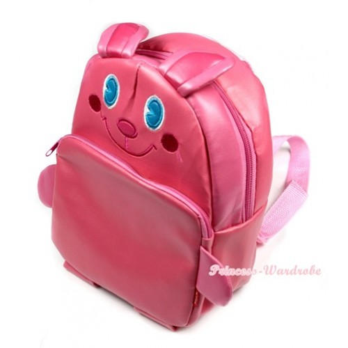 Hot Pink Bunny Rabbit Cute Kids Backpack Animal School Shoulder Bag CB78