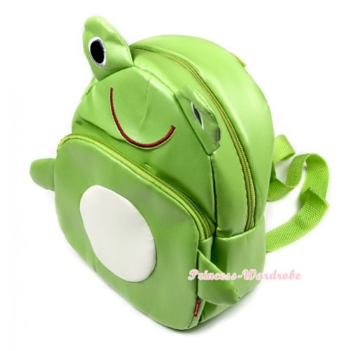 Green Frog Cute Kids Backpack Animal School Shoulder Bag CB79
