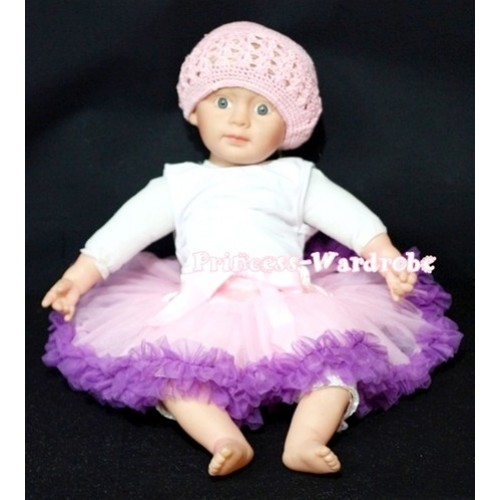 Light Pink Dark Purple Mix New Born Pettiskirt N50