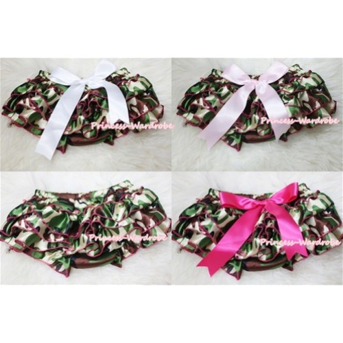 Camouflage Patterns Layer Panties Bloomers with Cute Big Bow BC116