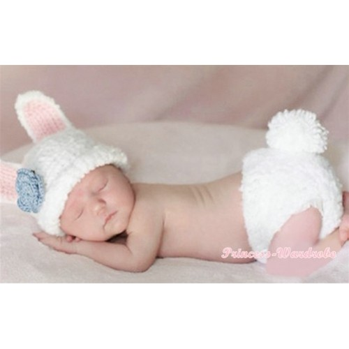 Rabbit Photo Prop Crochet Newborn Baby Custome C153