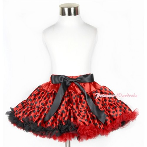 Halloween Beetle Red Black Polka Dots Full Pettiskirt P171