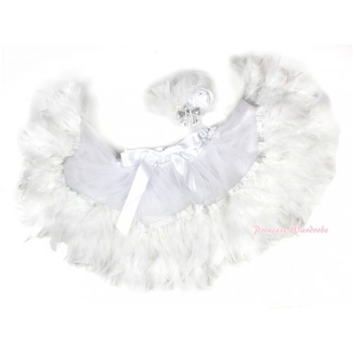 White Feather Posh Pettiskirt 2 PC Set N165
