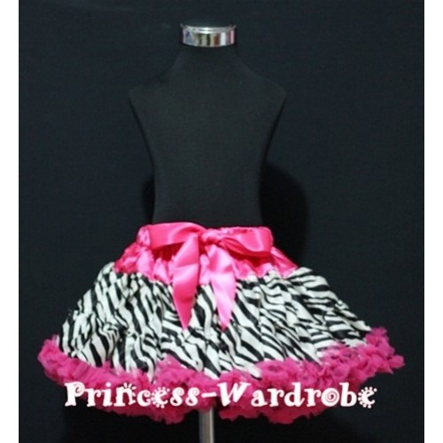Hot Pink Zebra Print Teen Full Pettiskirt XXL AP07