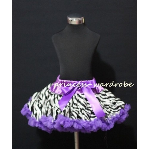 Dark Purple Zebra Print Teen Full Pettiskirt XXL AP08