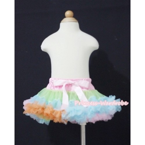 Light Pink Lime Green Light Blue PREMIUM New Born Pettiskirt D011