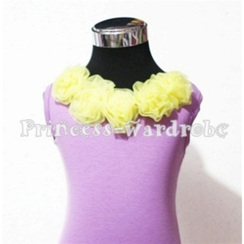 Lavender Tank Tops with Yellow Rosettes TN102