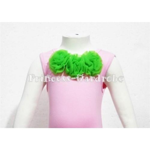 Light Pink Baby Pettitop & Dark Green Rosettes NT54