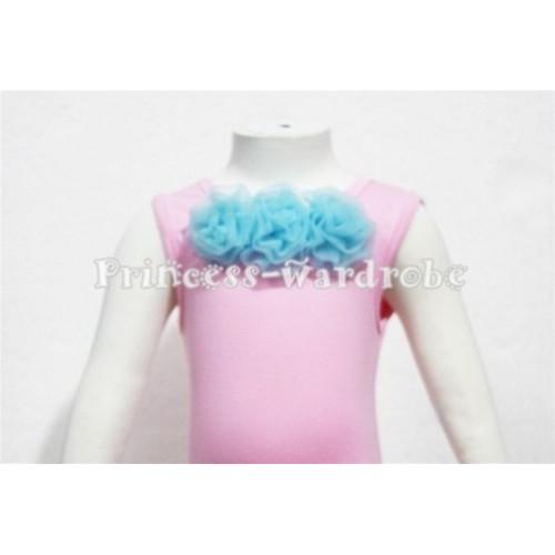 Light Pink Baby Pettitop & Light Blue Rosettes NT55