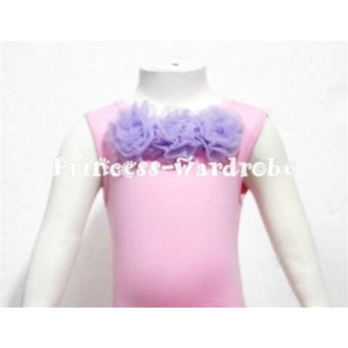 Light Pink Baby Pettitop & Light Purple Rosette NT57s