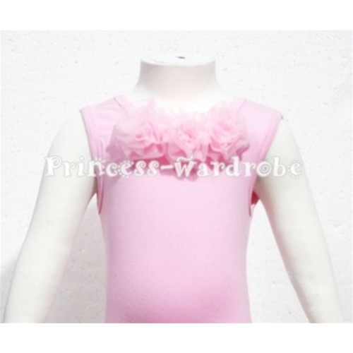 Light Pink Baby Pettitop & Light Pink Rosettes NT62