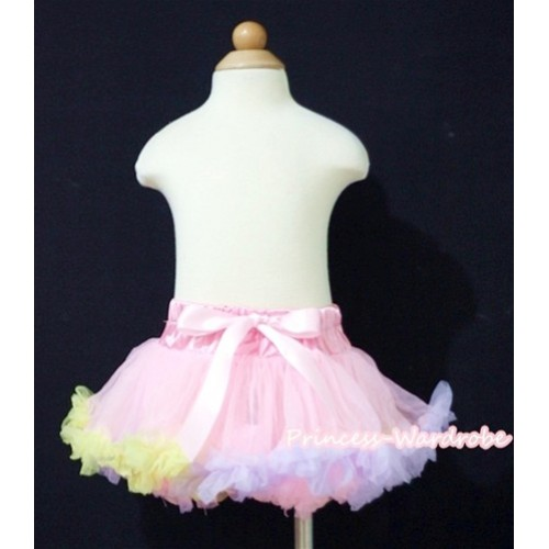 Light Pink Rainbow Mix NewBorn Pettiskirt N088