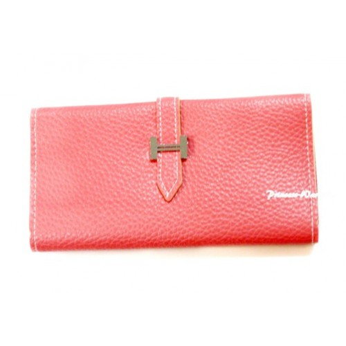 Light Pink Leather Adult Women Long Clutch Purse Zipper Wallet CB97