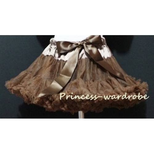 Brown Adult Pettiskirt XXXL AP75