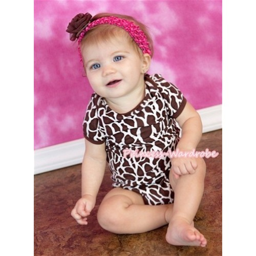 Giraffe Print Baby Jumpsuit TH109