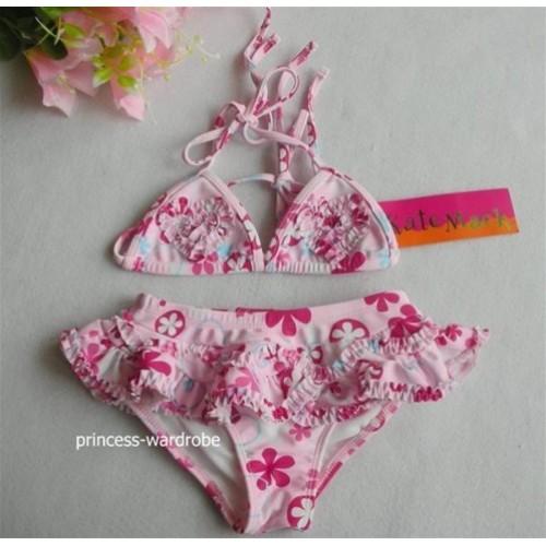 Light Pink Flower Print Bikini SW43