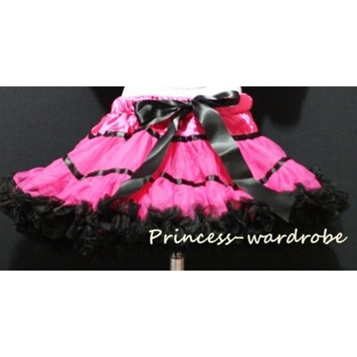 Hot Pink Black Trim Pettiskirt P28
