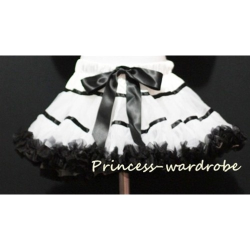 White Black Trim Pettiskirt P29