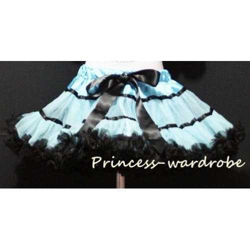 Blue Black Trim Pettiskirt P30