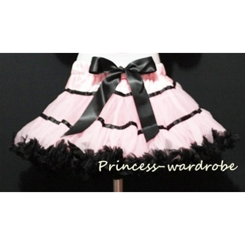Light Pink Black Trim Pettiskirt P31